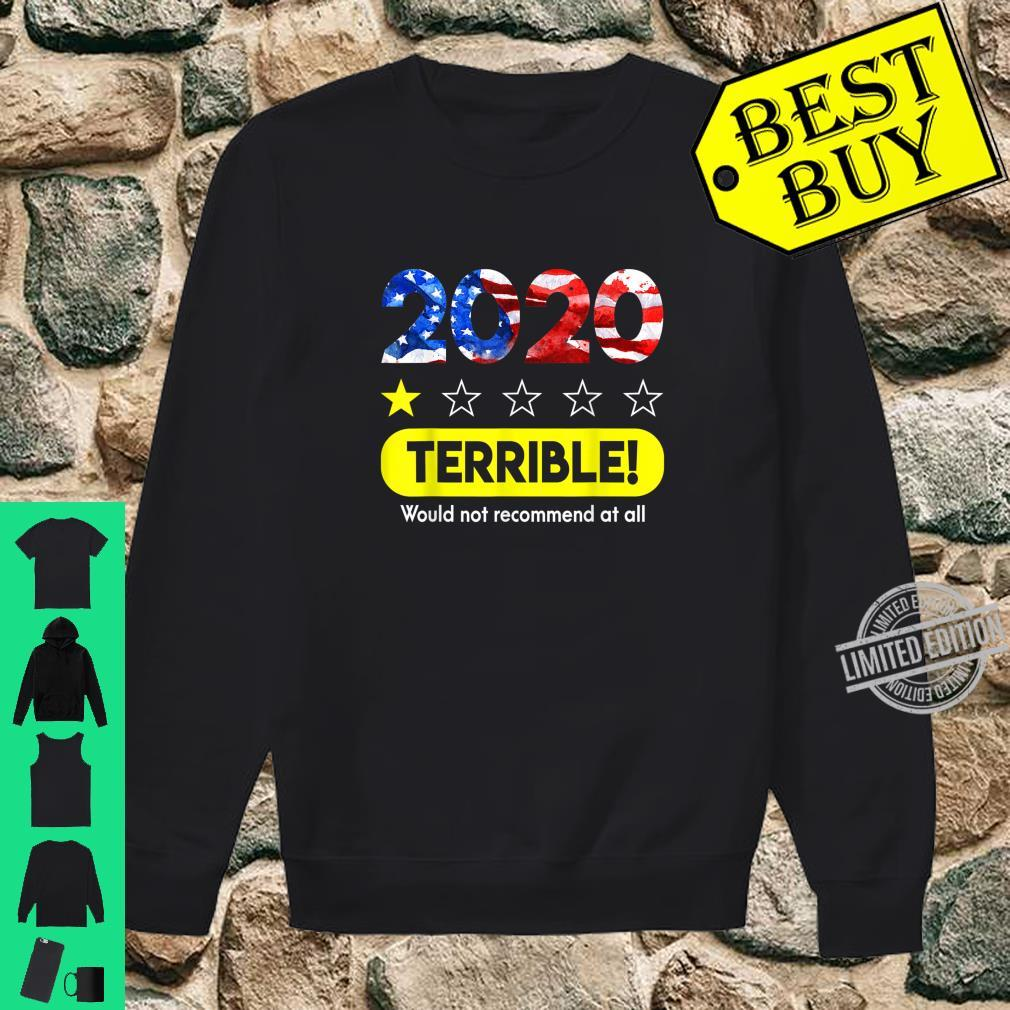 Flag 2020 Terrible Would Not Recommend 1 Star Rating Shirt sweater
