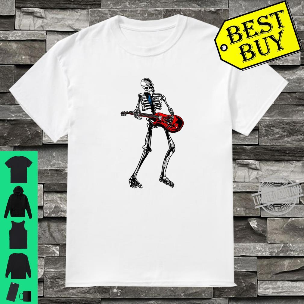 Funny Skeleton Playing Guitar Cool Rock Guitarist Fan Shirt