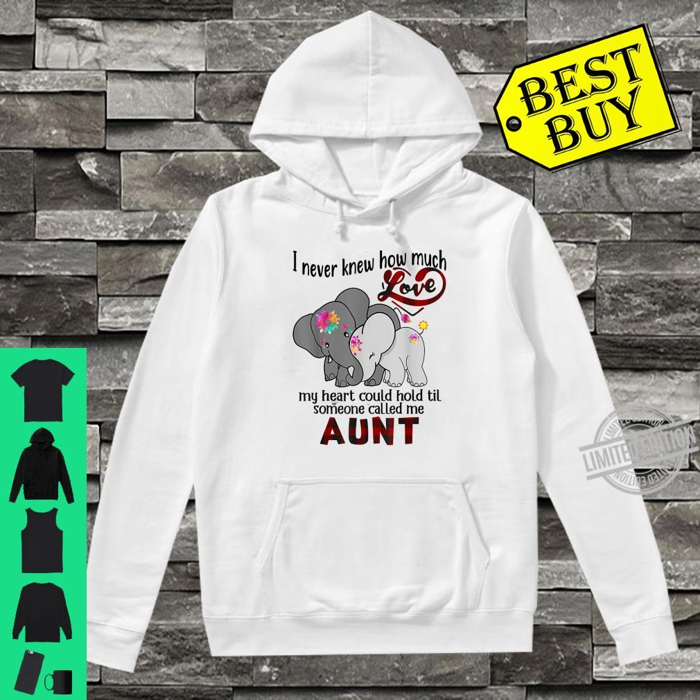 I Never Knew Til Someone Called Me Aunt Elephant Hippie Shirt hoodie