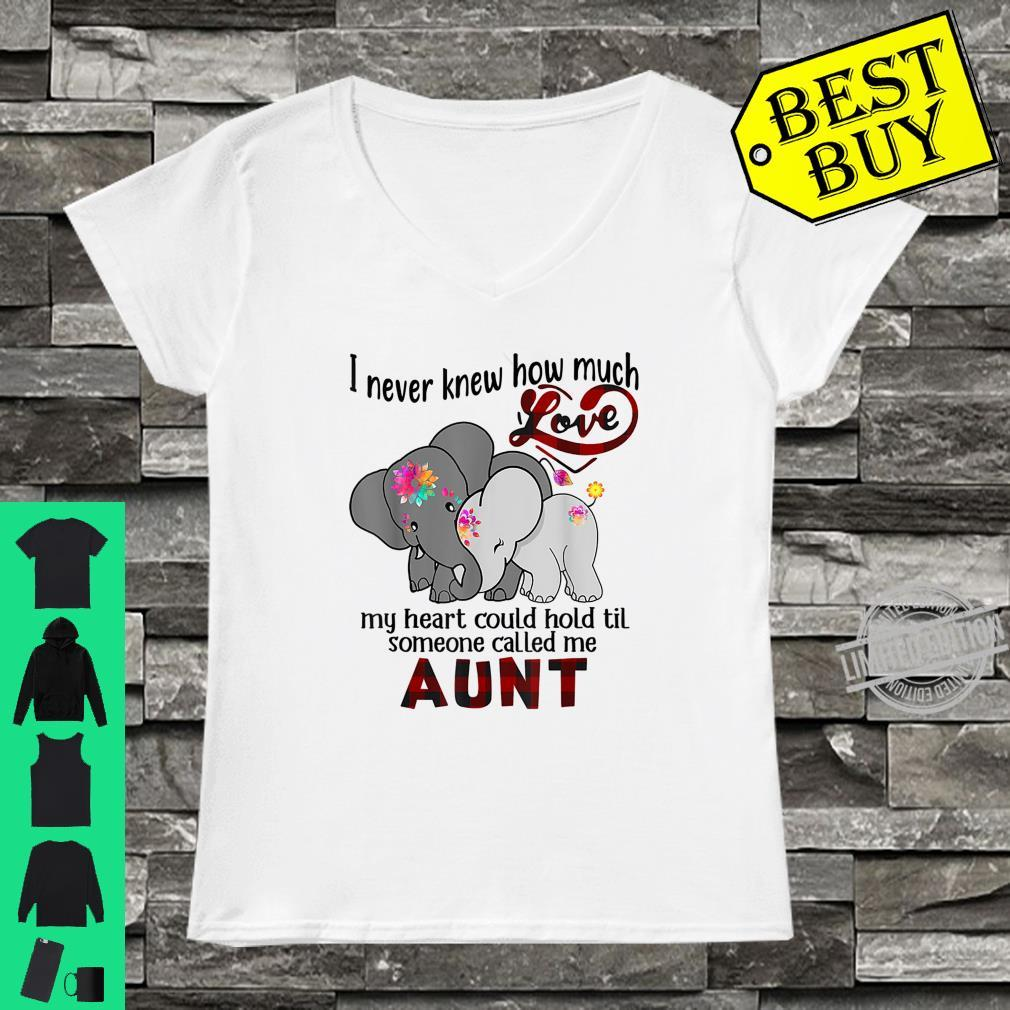 I Never Knew Til Someone Called Me Aunt Elephant Hippie Shirt ladies tee