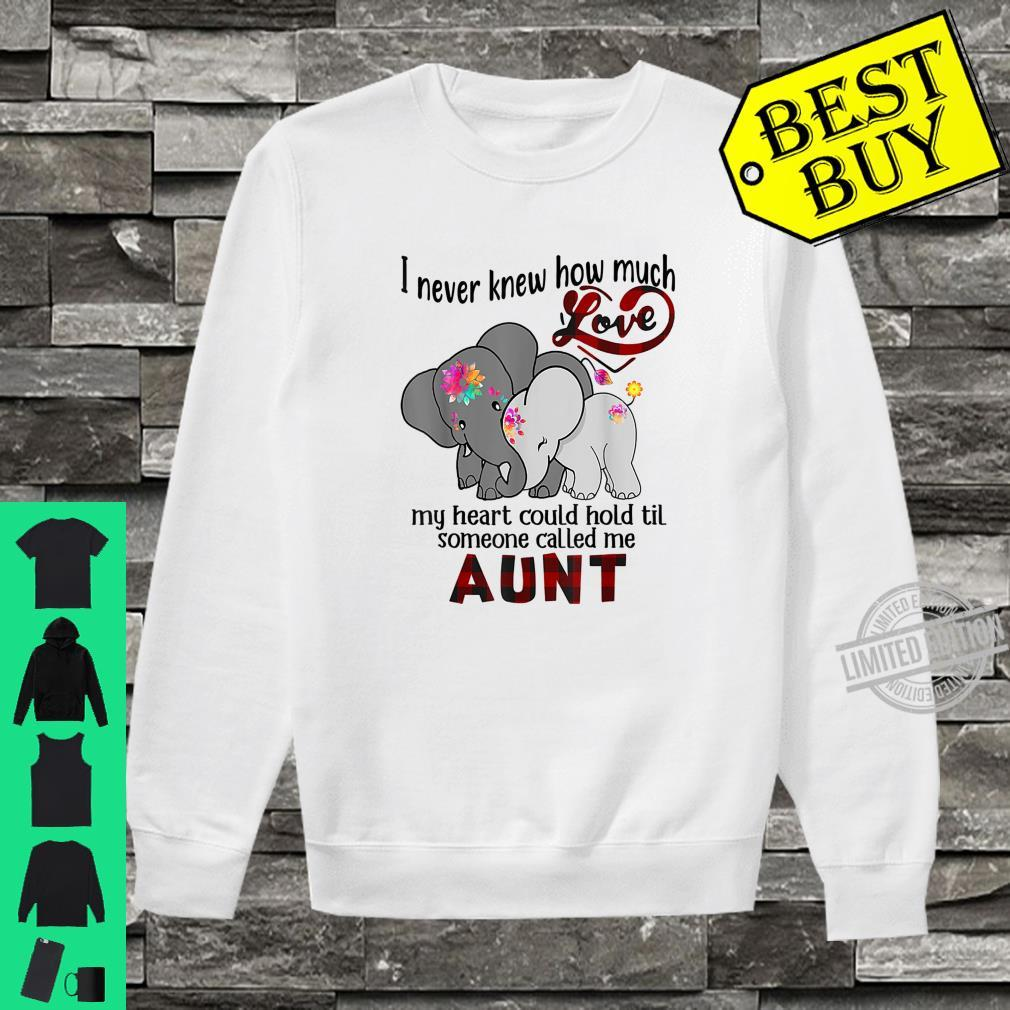 I Never Knew Til Someone Called Me Aunt Elephant Hippie Shirt sweater