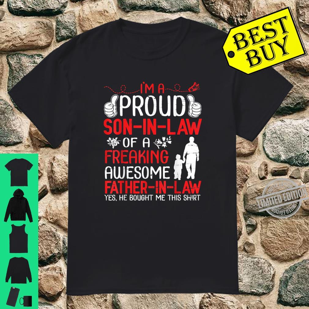 I'm A Proud Son In Law Of A Freaking Awesome Father In Law Shirt