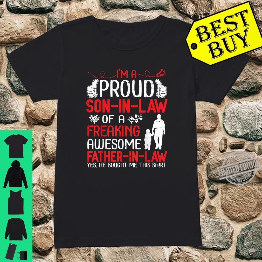 I'm A Proud Son In Law Of A Freaking Awesome Father In Law Shirt ladies tee