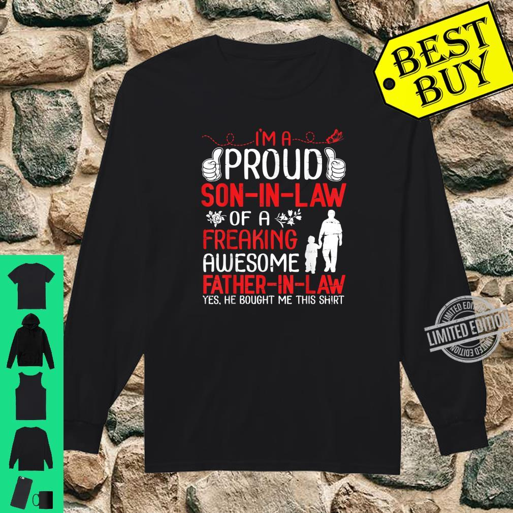 I'm A Proud Son In Law Of A Freaking Awesome Father In Law Shirt long sleeved