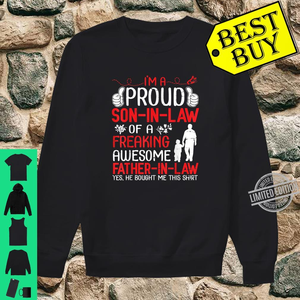 I'm A Proud Son In Law Of A Freaking Awesome Father In Law Shirt sweater