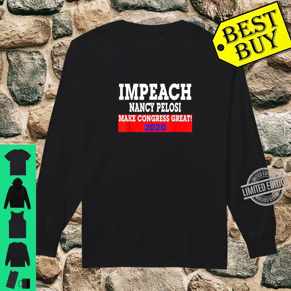 Impeach Nancy Pelosi Trumps Make Congress Great 2020 Shirt long sleeved