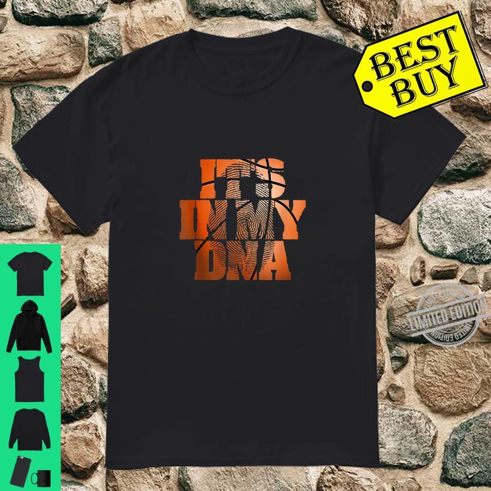 It's In My DNA Basketball Fingerprint Team Coach Idea Shirt