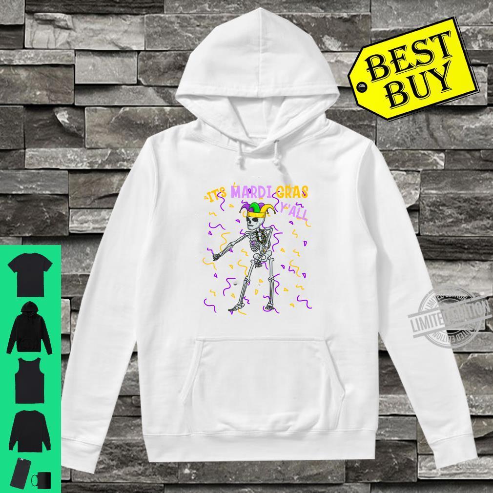 It's Mardi Gras Y'All Flossing Skeleton Bead Costume Shirt hoodie