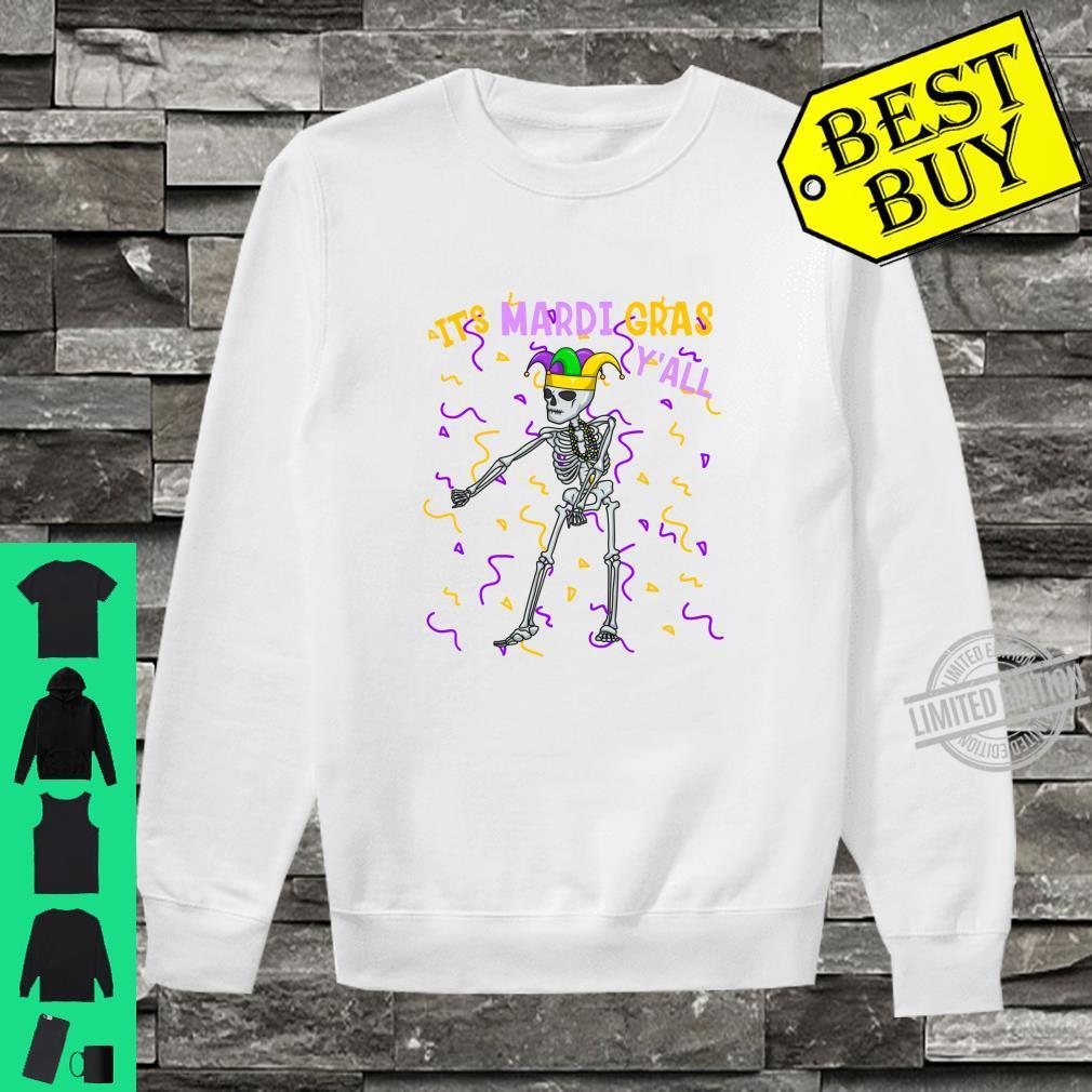 It's Mardi Gras Y'All Flossing Skeleton Bead Costume Shirt sweater