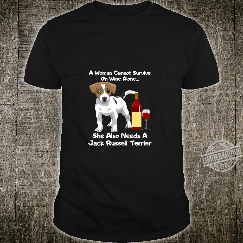 Jack Russell Terrier Parson Russell Wine For Her Shirt