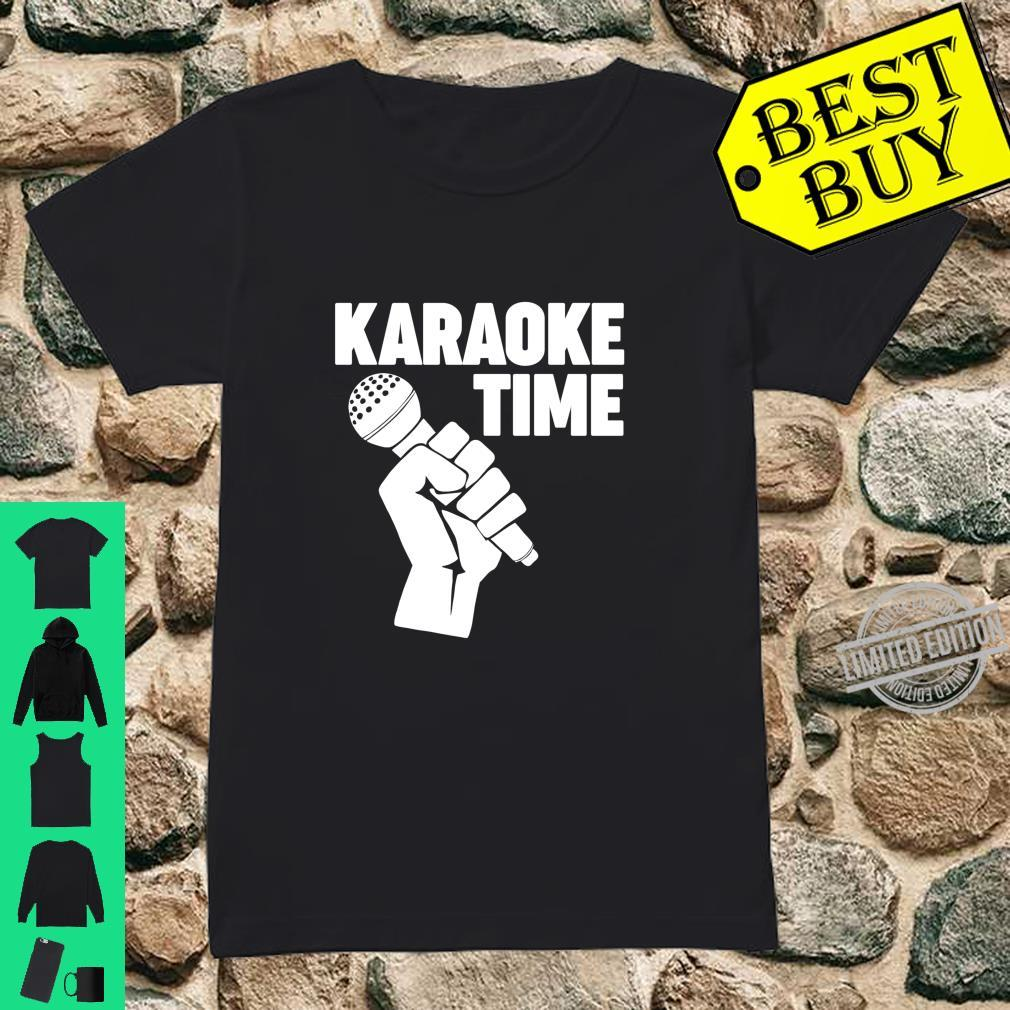 Karaoke Time Microphone microphone Karaoke Shirt ladies tee