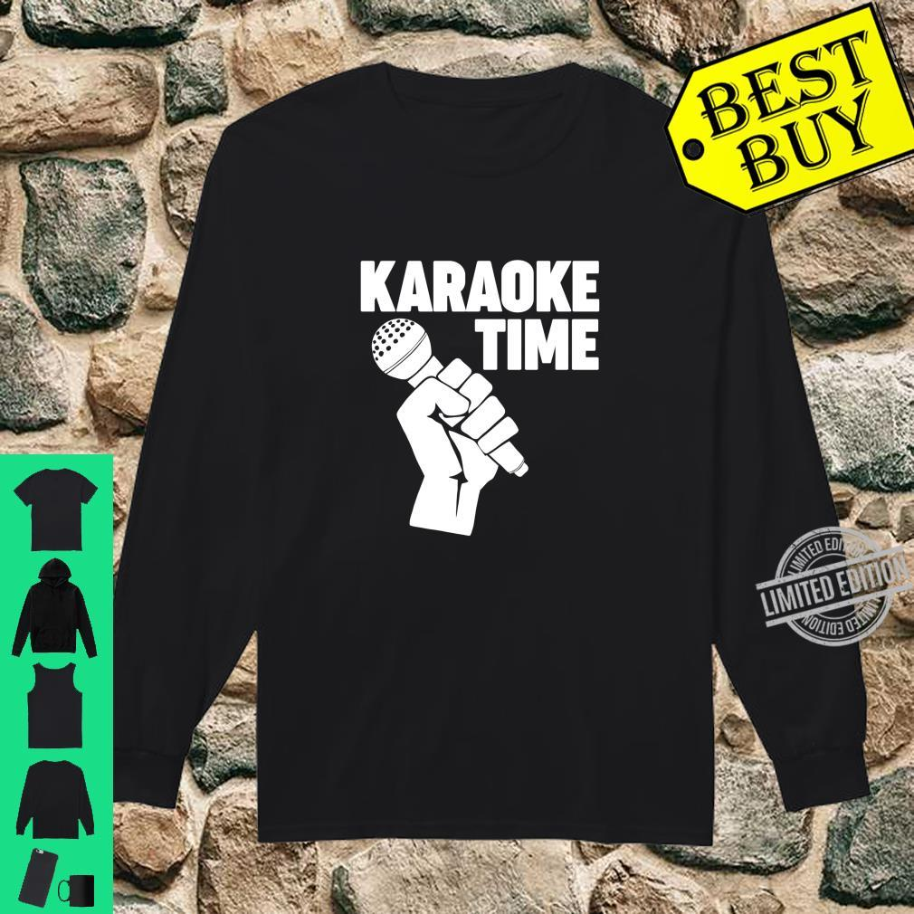 Karaoke Time Microphone microphone Karaoke Shirt long sleeved