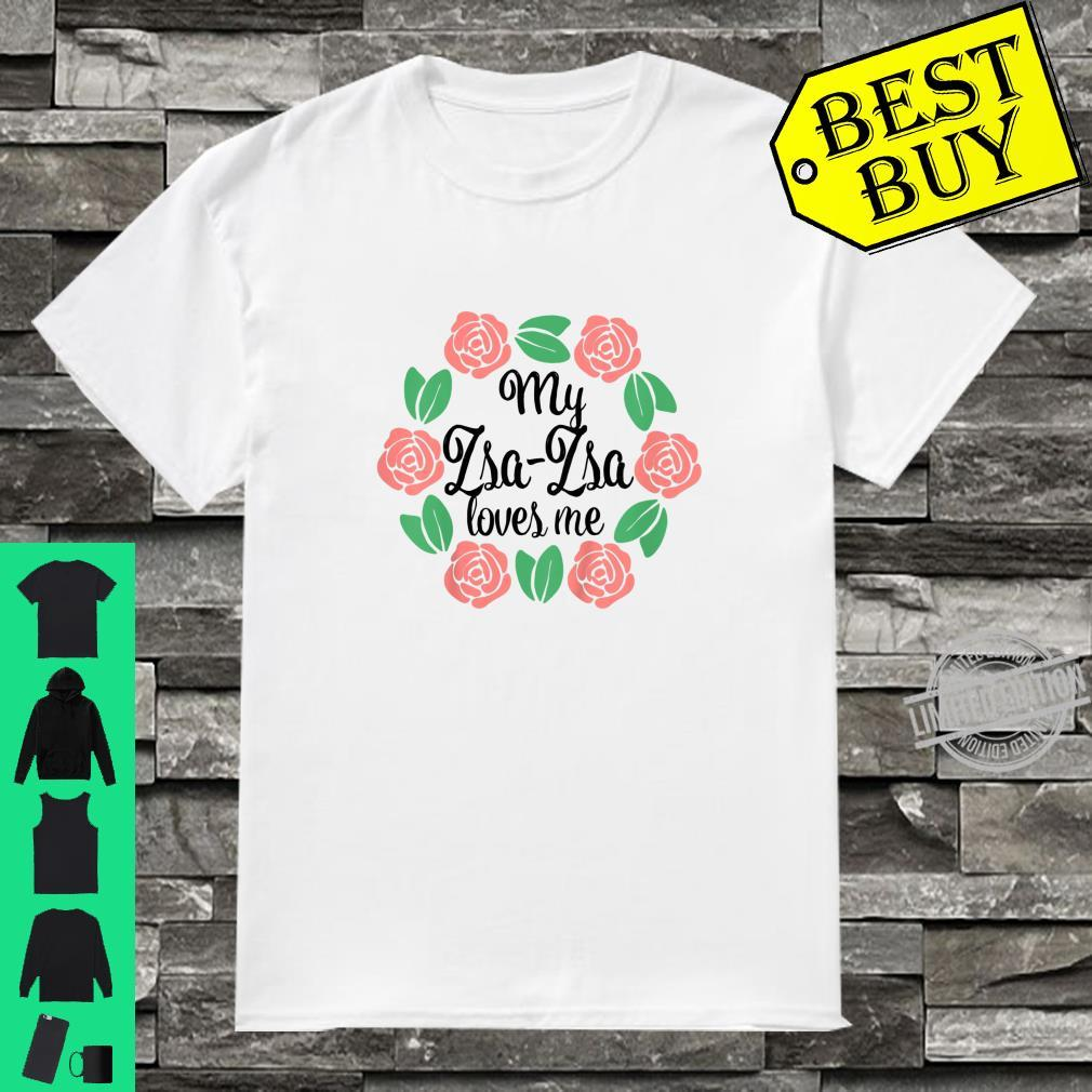 Kids My ZsaZsa Loves Me Mother's Day Xmas Polish Grandma Girl Shirt