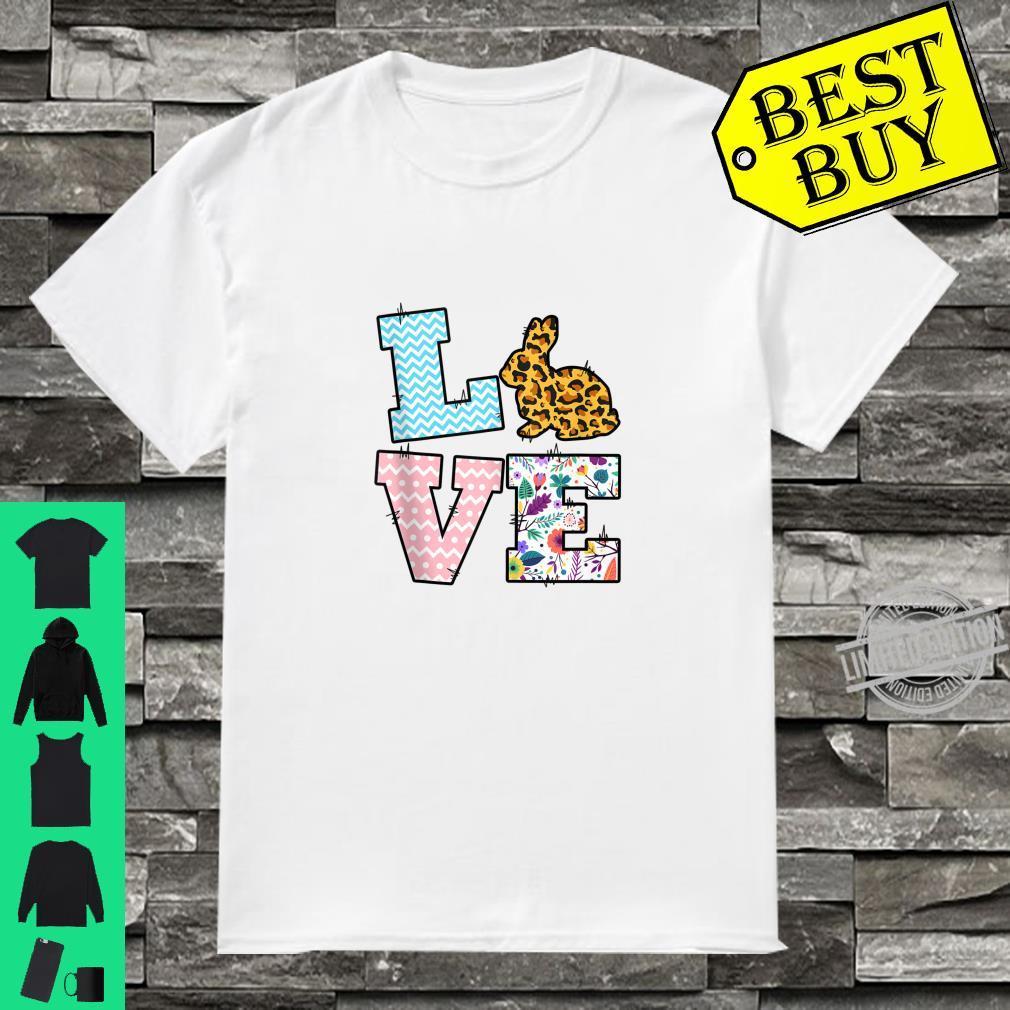 Leopard Love Bunny With Rabbit Egg Shirt