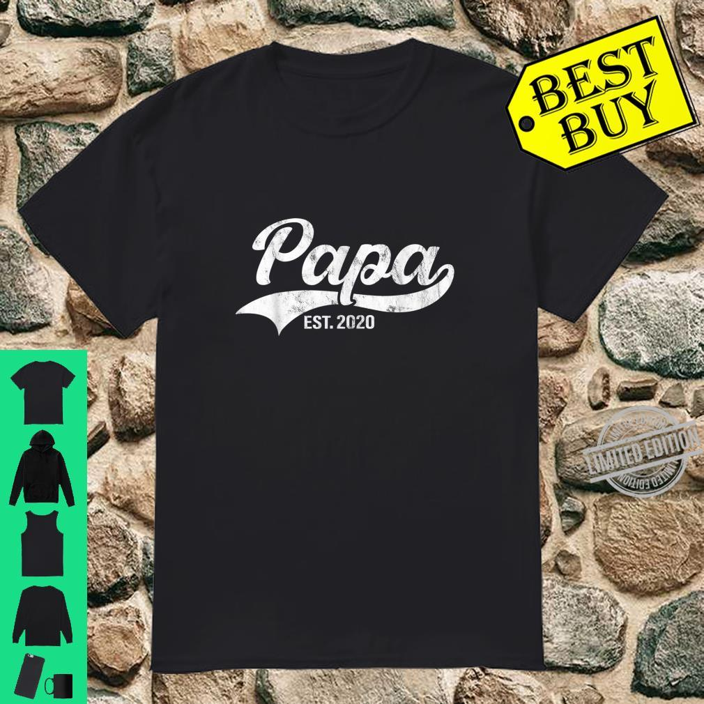 Mens Papa Est. 2020 Promoted To Daddy Father To Be Shirt