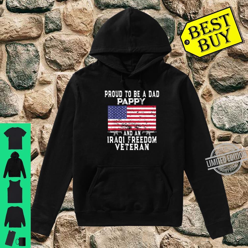 Mens Proud Dad Pappy Iraqi Freedom Veteran Retro US Flag Grandpa Shirt hoodie