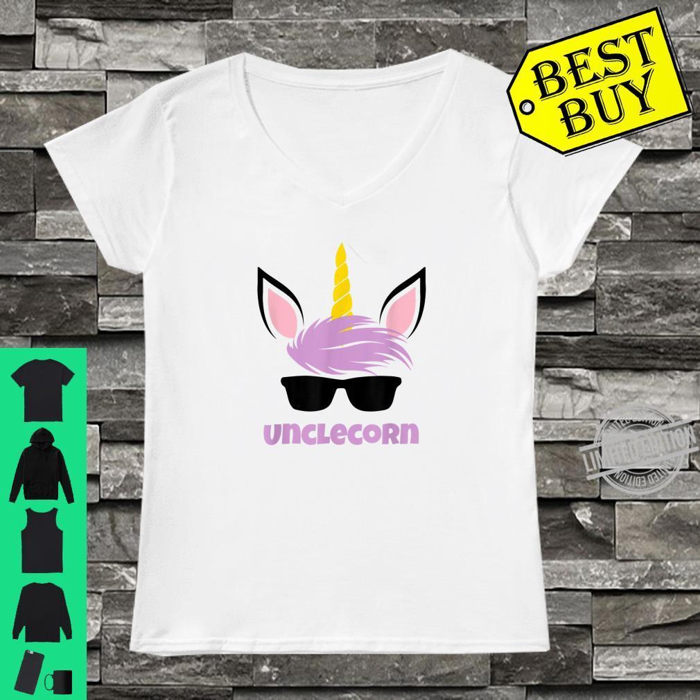 Mens Unclecorn Unicorn Uncle Shirt ladies tee