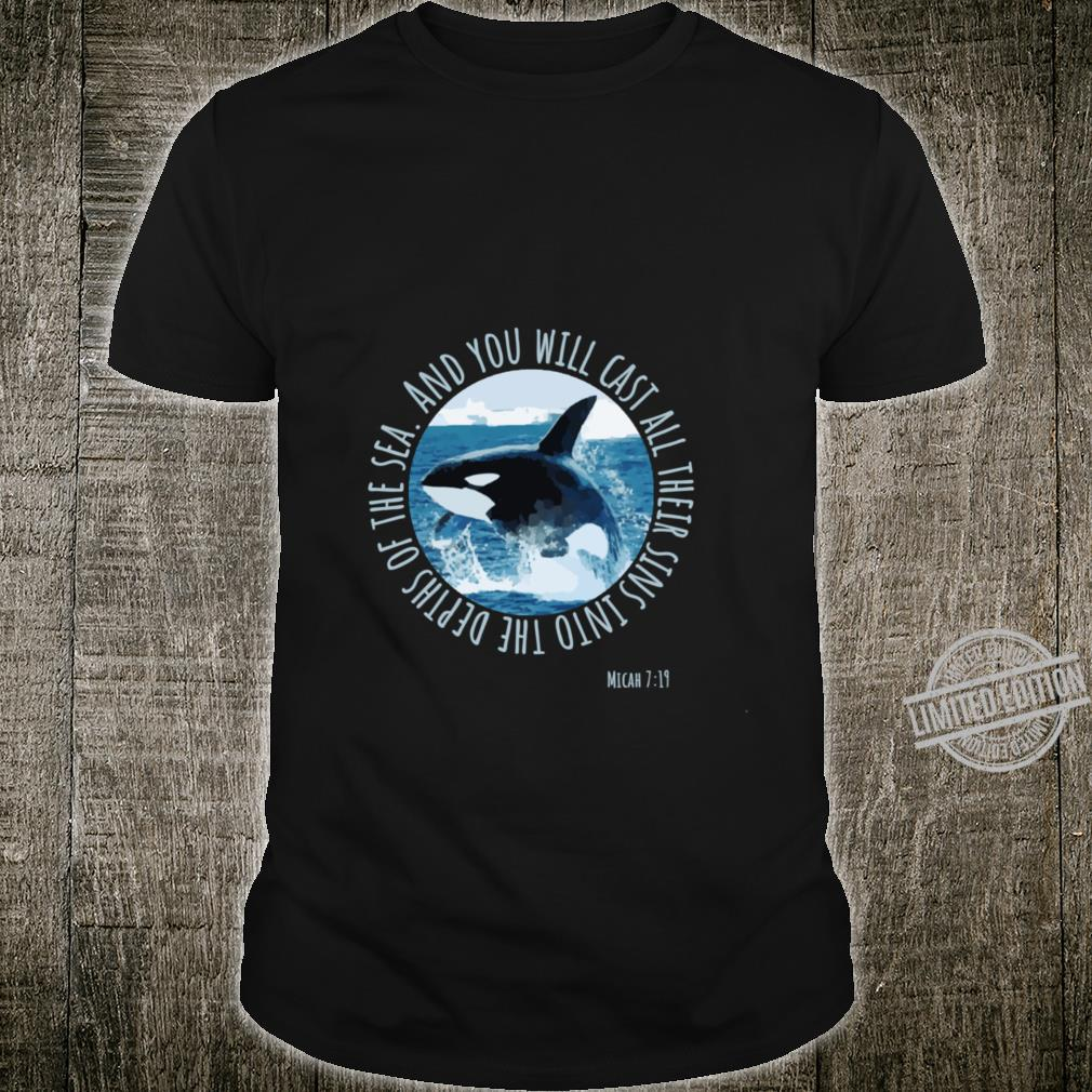 Micah 719 Sins Into The Sea Ocean Whale Bible Verse Shirt