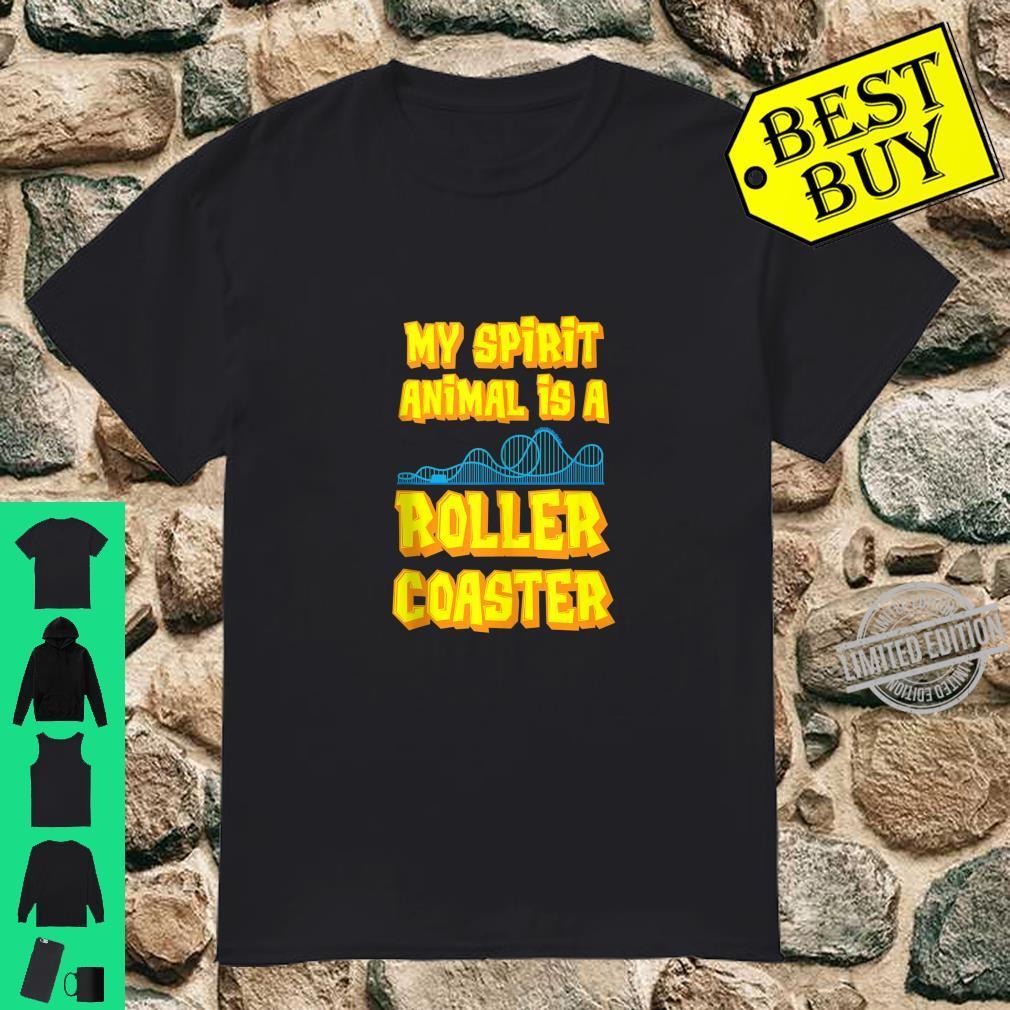My Spirit Animal Is A Roller Coaster Amusement Park Shirt