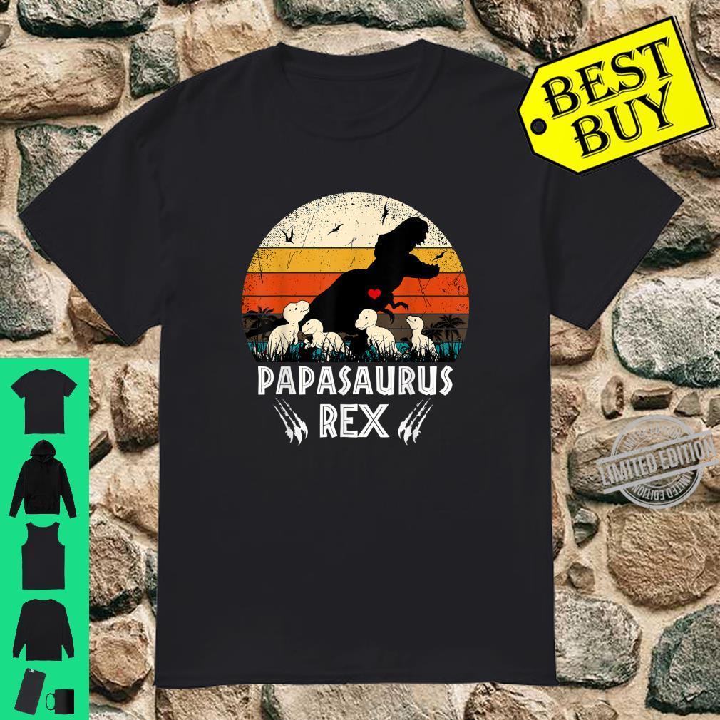 Papasaurus Shirt T rex Papa Saurus Dinosaur 4 KIDDOS Shirt