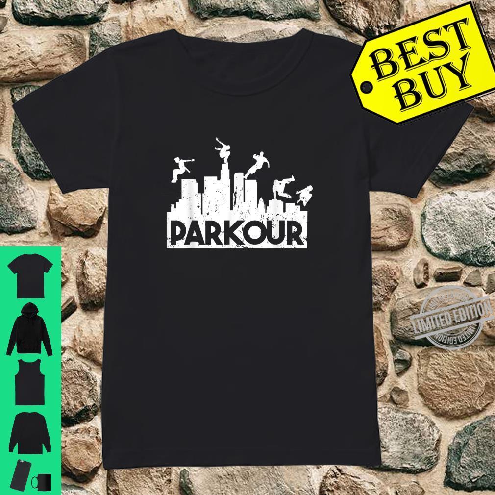 Parkour Freerunning Running Jumping Climbing Acrobatics Shirt ladies tee
