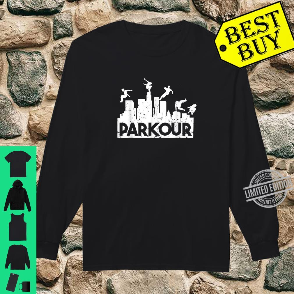 Parkour Freerunning Running Jumping Climbing Acrobatics Shirt long sleeved