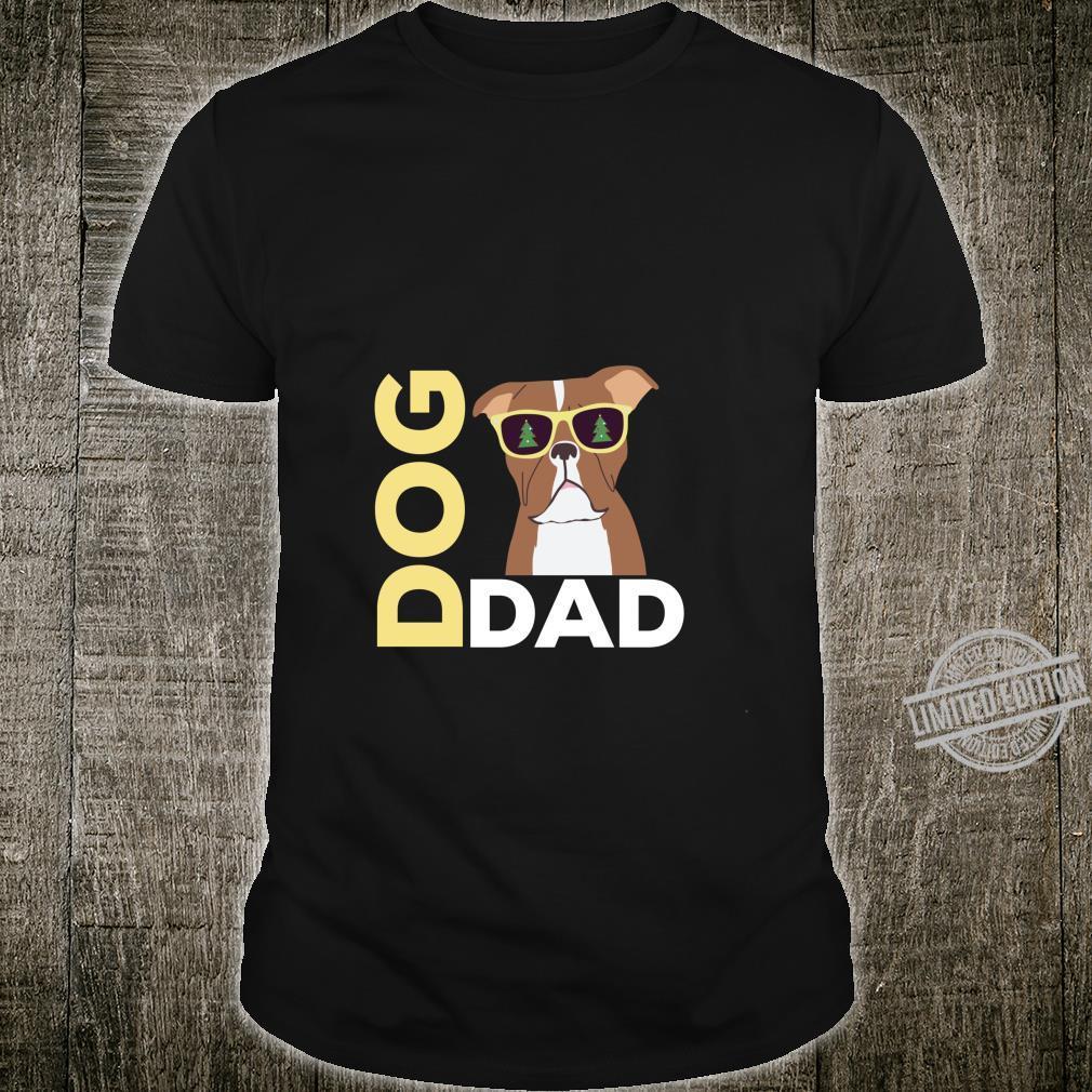 Pitbull Dog Dad Christmas Shirt