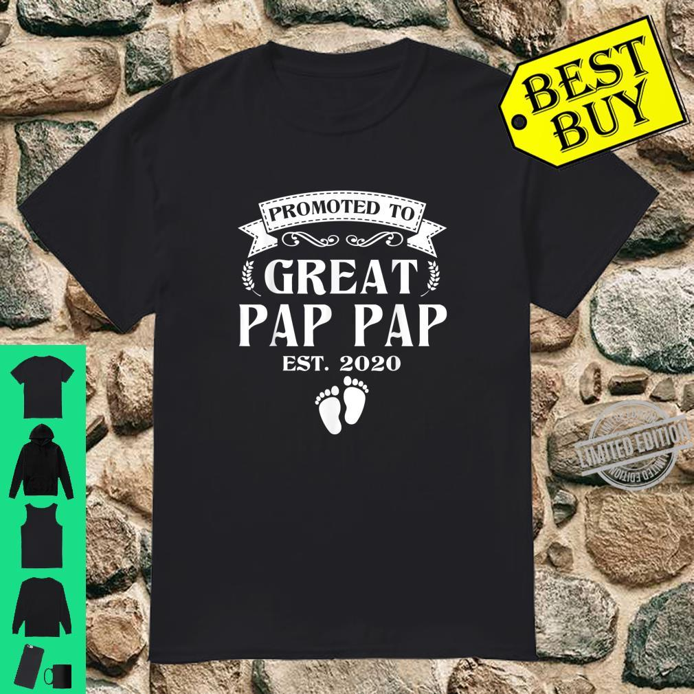 Promoted To Great Pap Pap Christmas Fathers Day Shirt