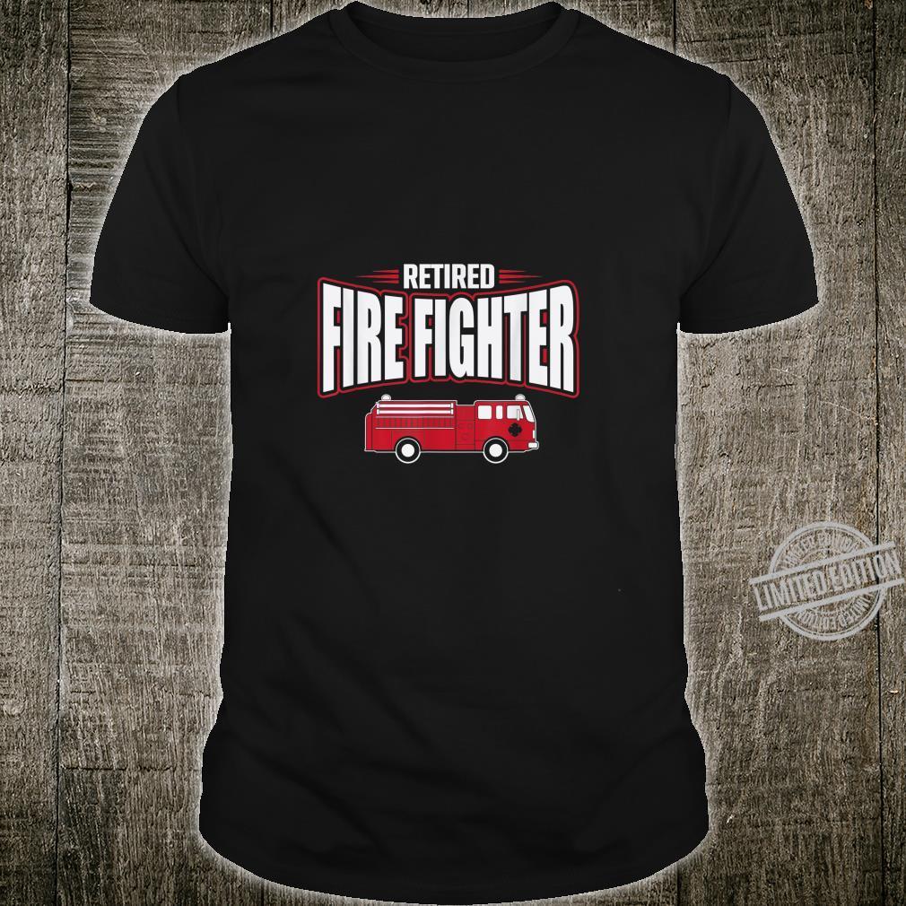 Retired Firefighter Fire Truck Retirement Party Shirt