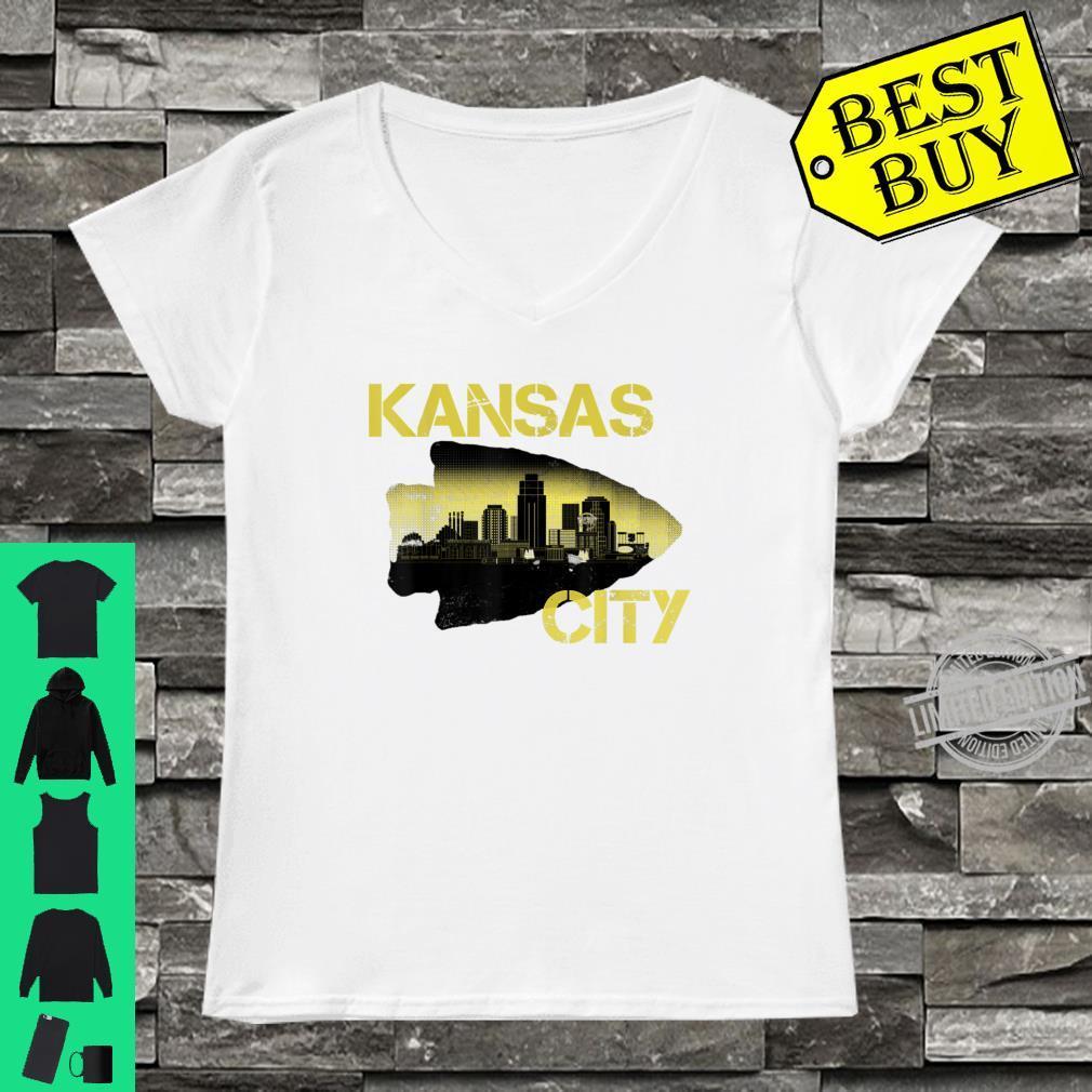 Retro Vintage Kansas CityFootball Fans KC Missouri Shirt ladies tee