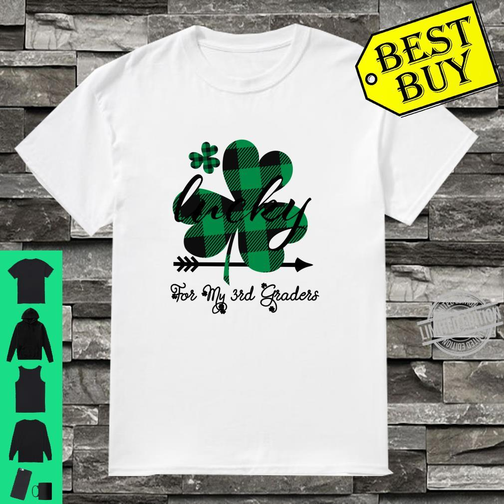 Shamrock Third Grade St Patricks Day For Teachers Shirt