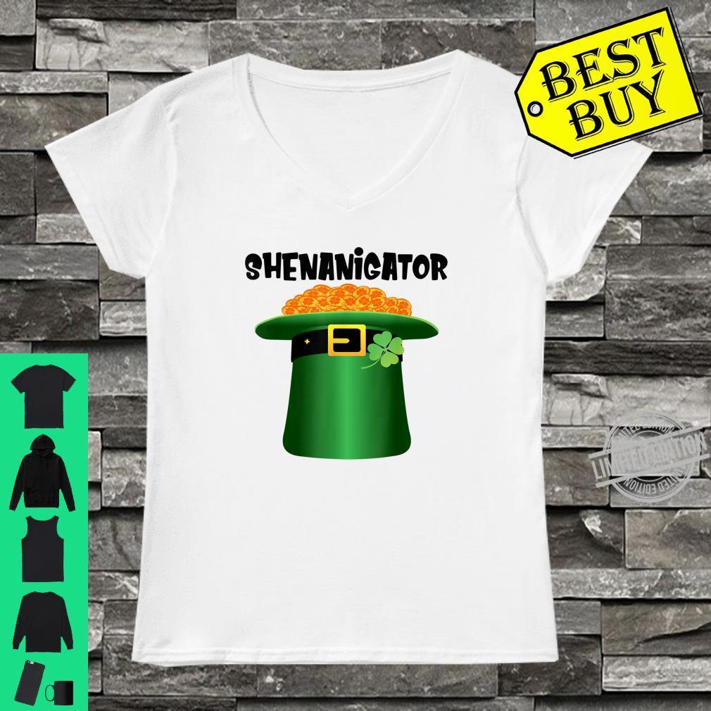 Shenanigator Leprechaun Hat St.Patrick's Day Shenanigans Shirt ladies tee