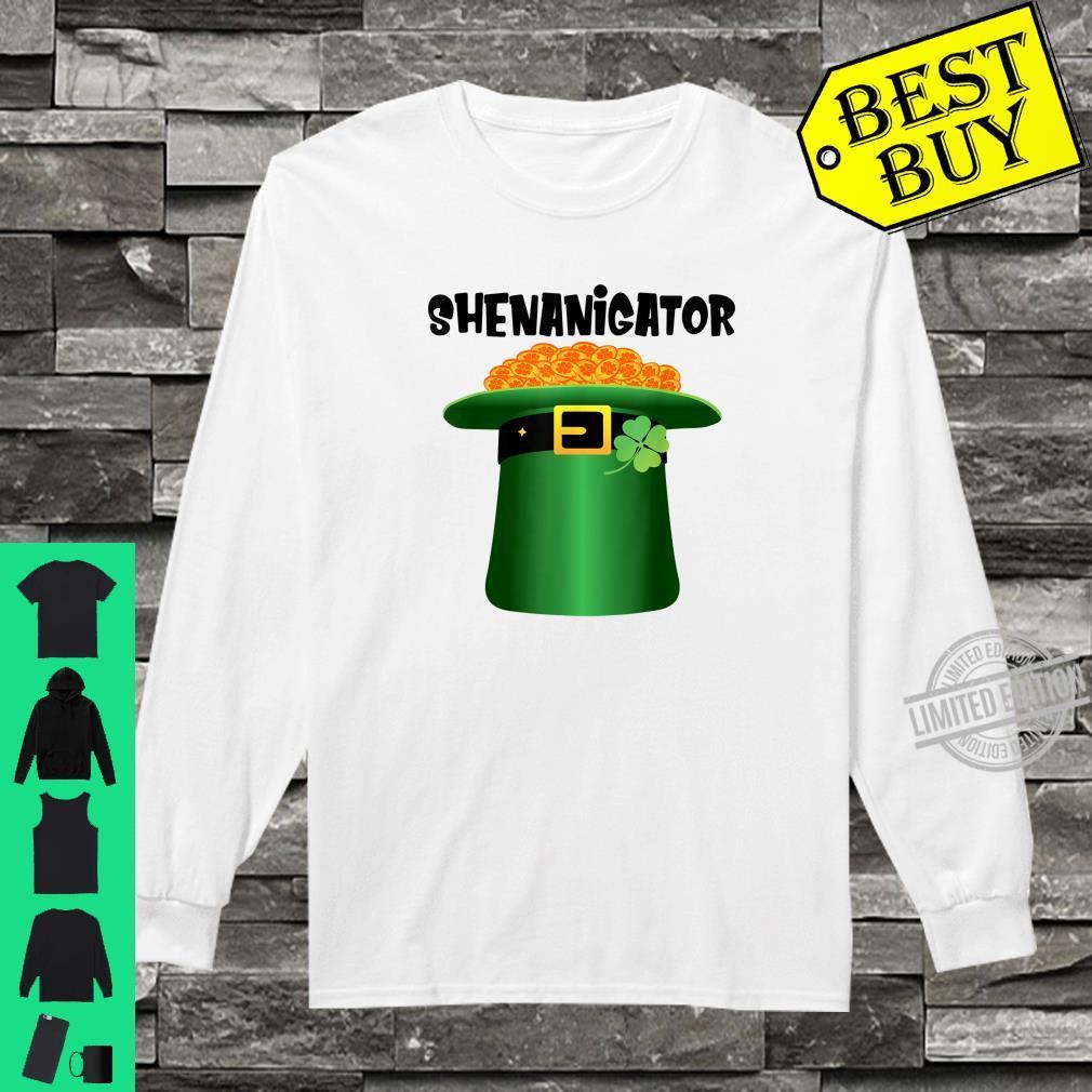 Shenanigator Leprechaun Hat St.Patrick's Day Shenanigans Shirt long sleeved