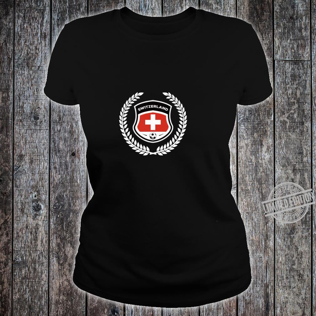 Switzerland Soccer Football Team Fan Shirt ladies tee