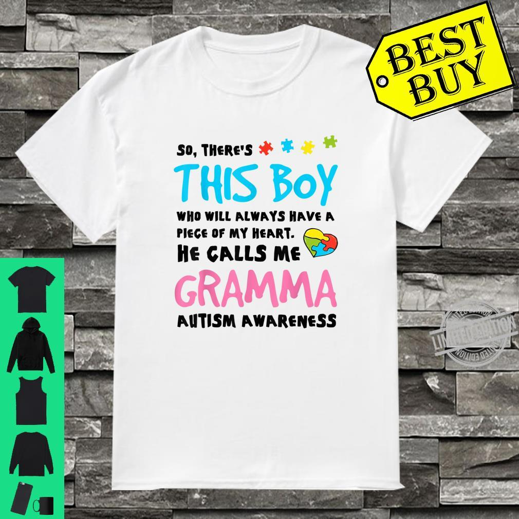 There's This Boy He Calls Me Gramma Autism Awareness Shirt