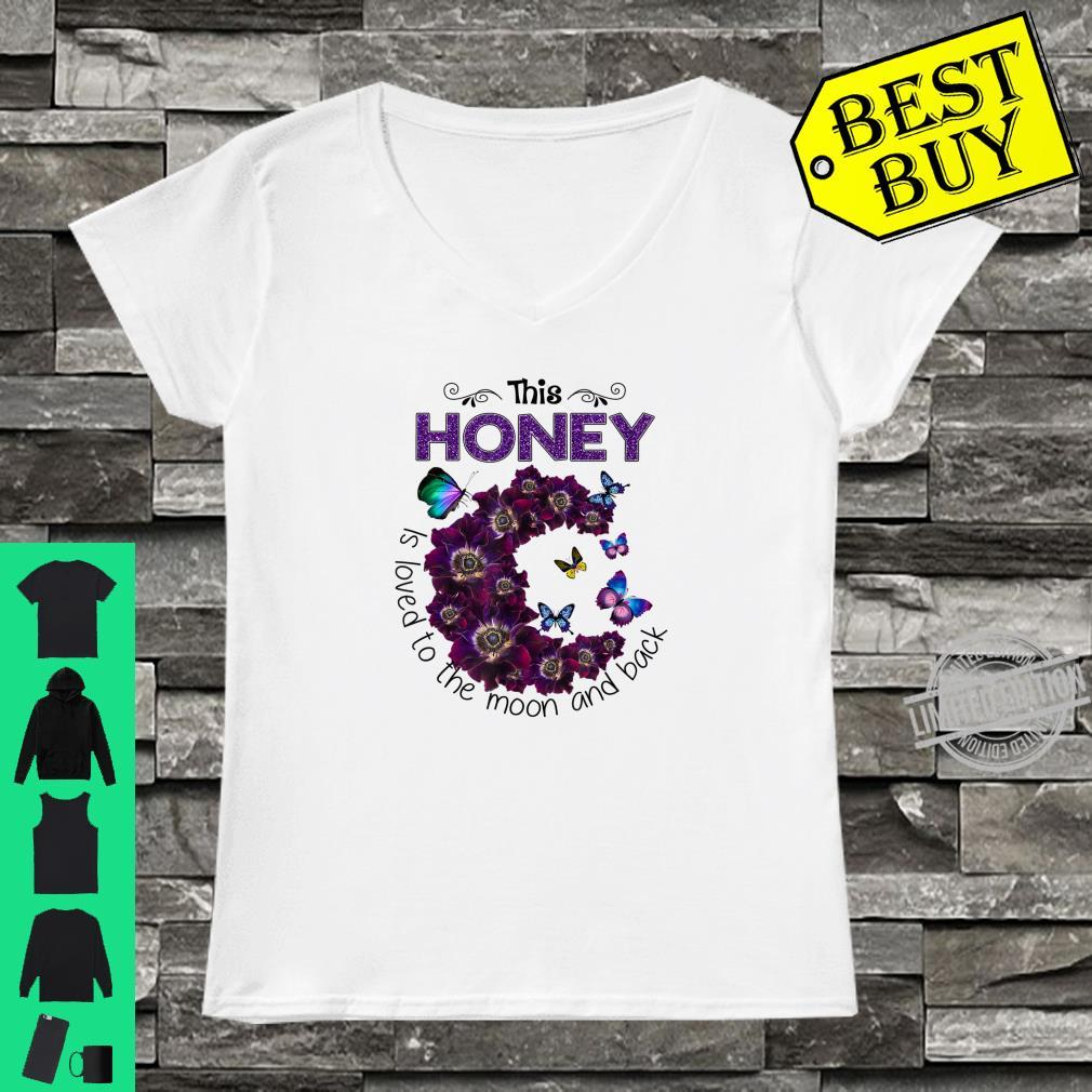 This Honey Is Loved To The Moon And Back Anemone Flower Shirt ladies tee
