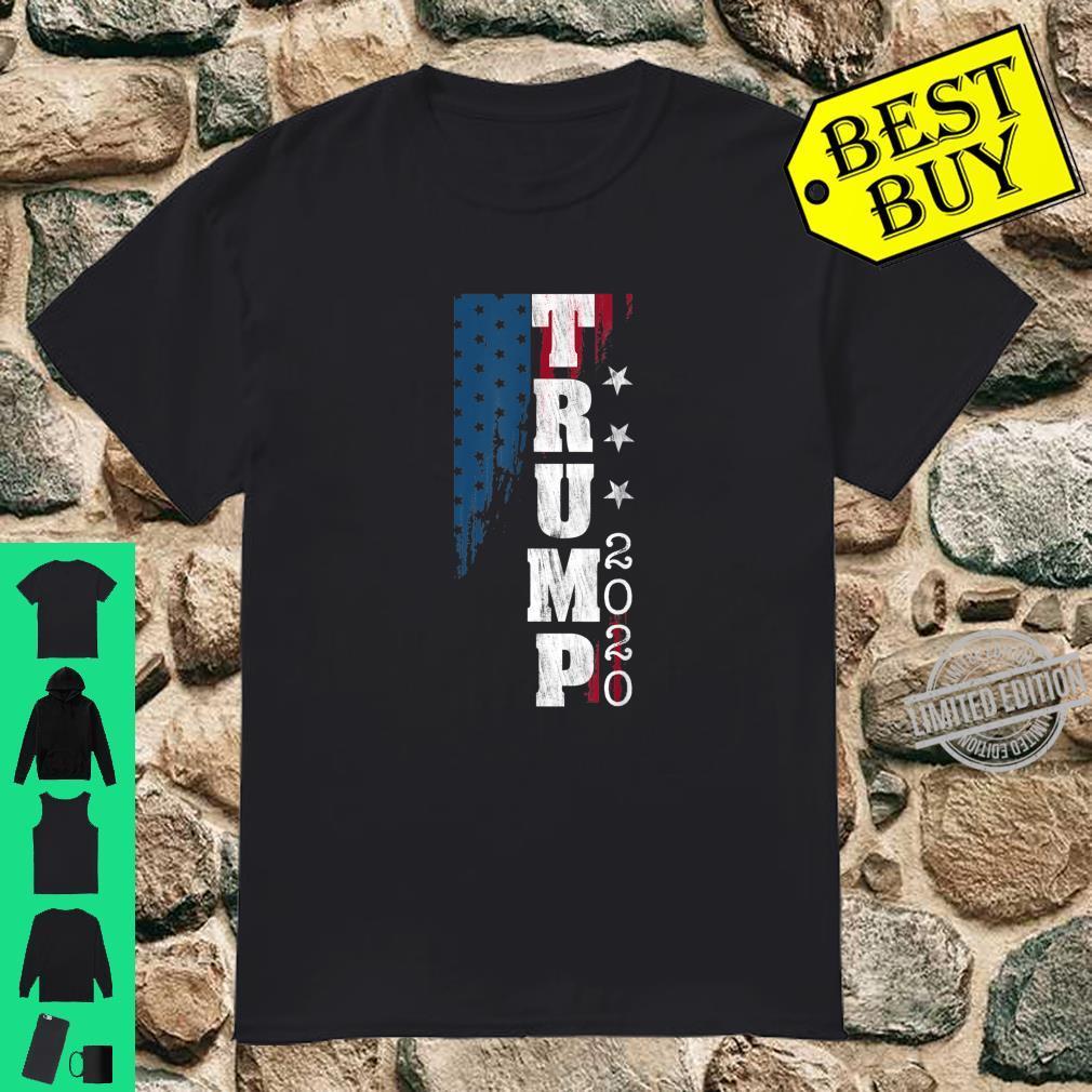Trump 2020 US Flag Distressed Vintage Shirt