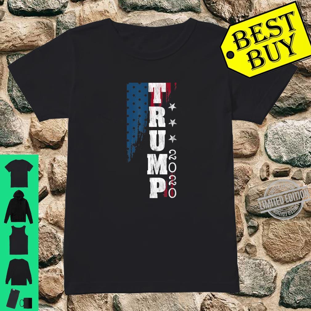 Trump 2020 US Flag Distressed Vintage Shirt ladies tee