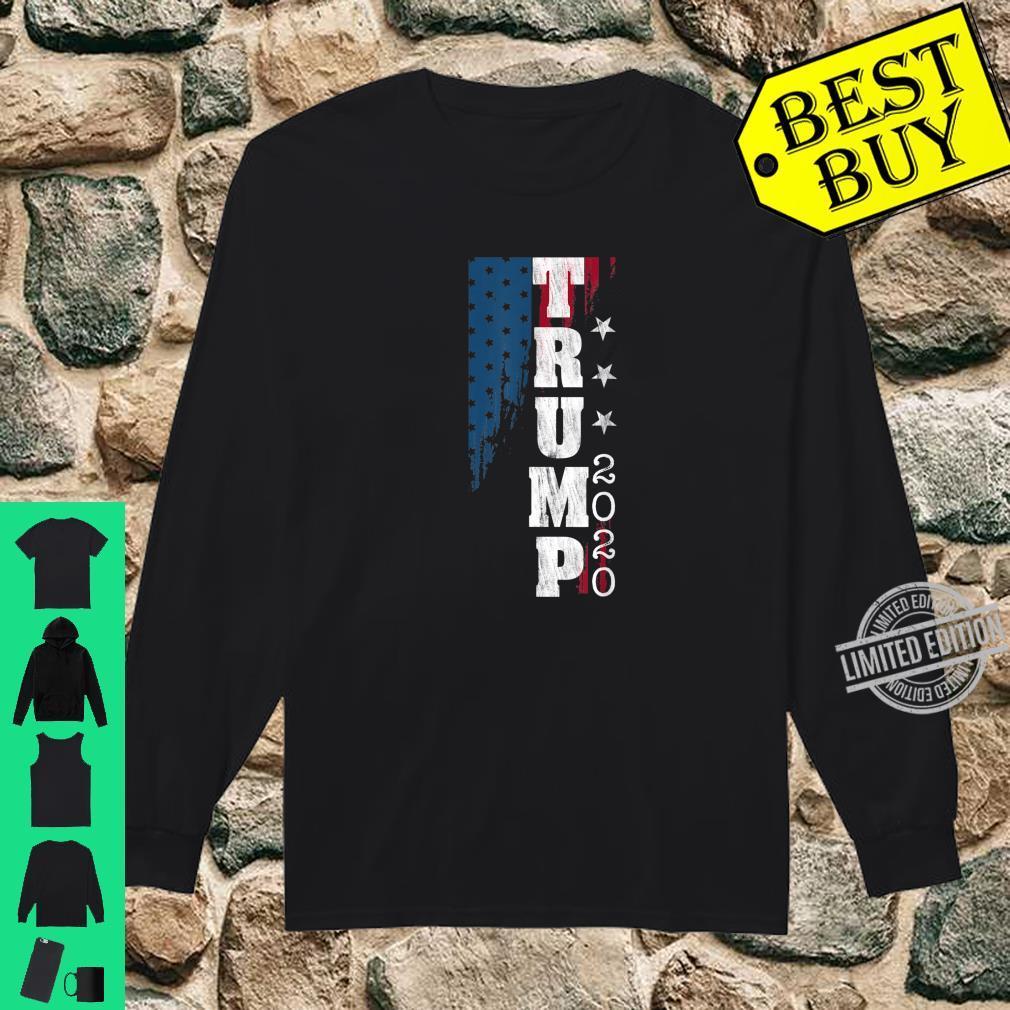 Trump 2020 US Flag Distressed Vintage Shirt long sleeved