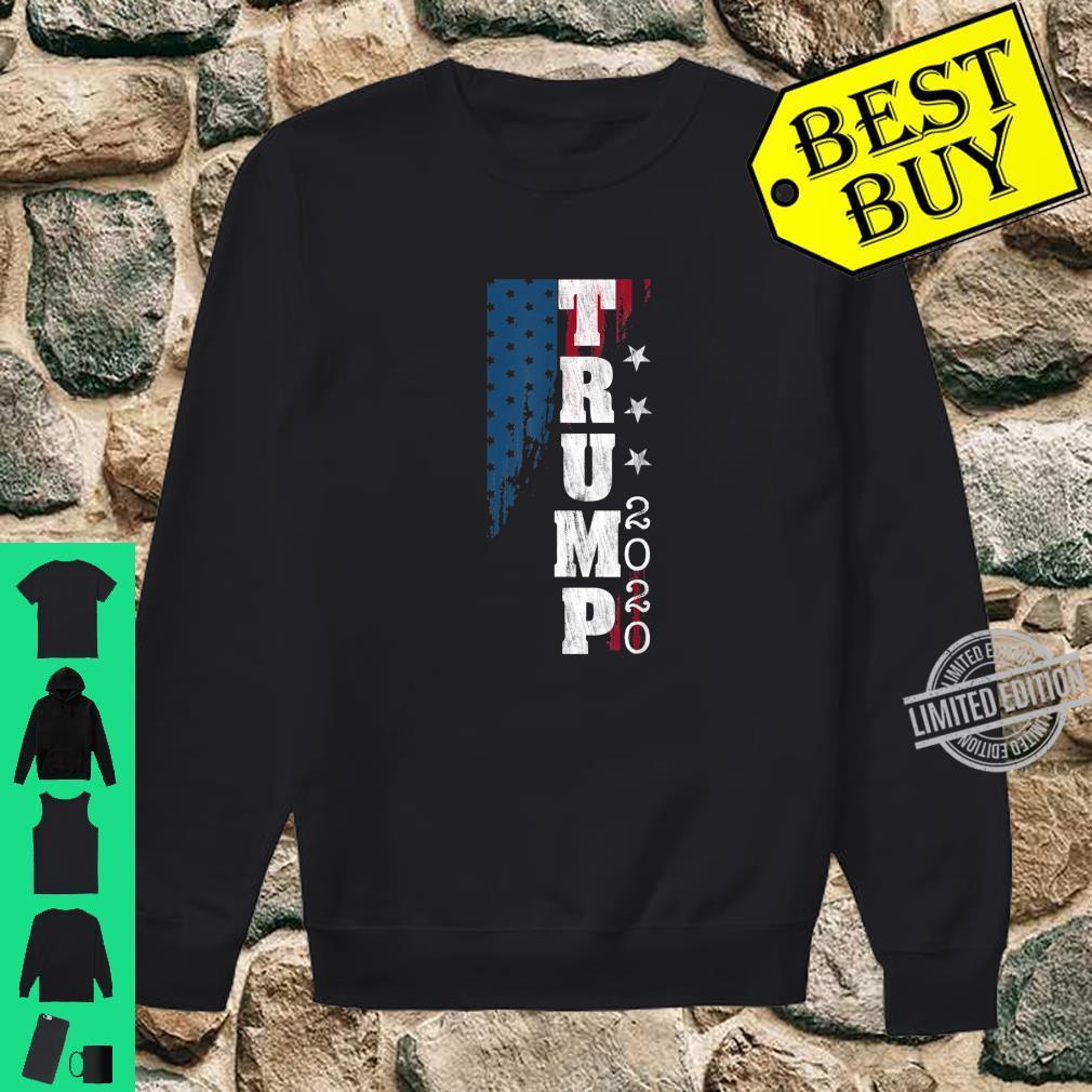 Trump 2020 US Flag Distressed Vintage Shirt sweater