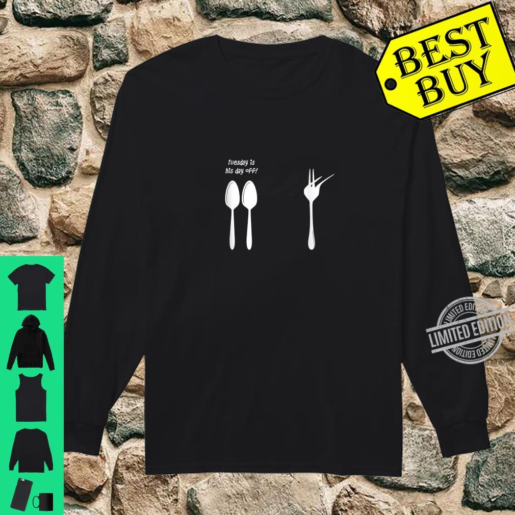 Tuesday Is His Day Off Dabbing Fork Shirt long sleeved