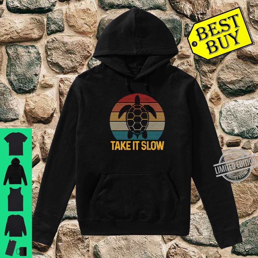 Turtle Take It Slow Vintage Sea Ocean Animal Shirt hoodie