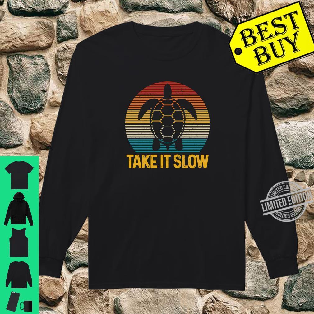 Turtle Take It Slow Vintage Sea Ocean Animal Shirt long sleeved
