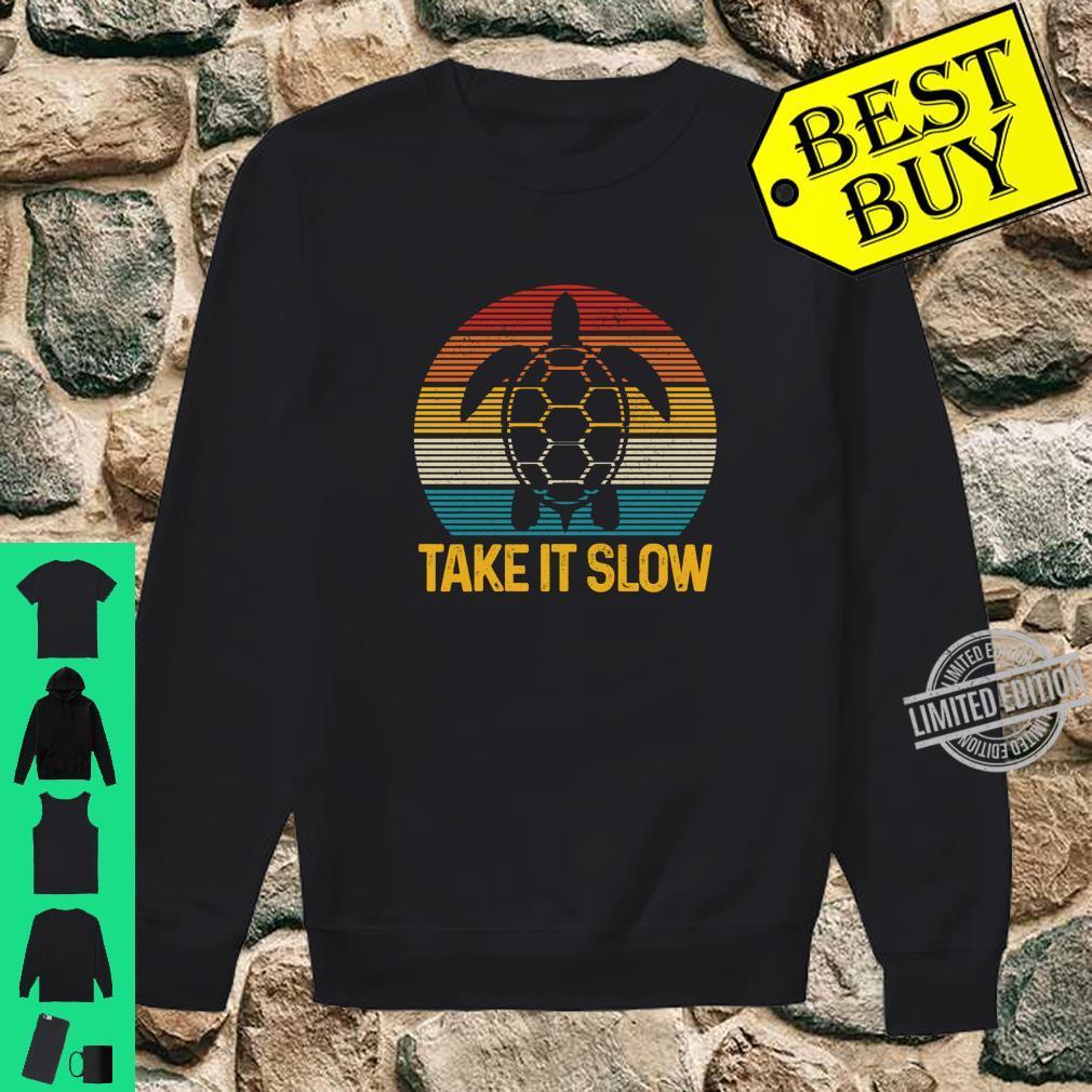 Turtle Take It Slow Vintage Sea Ocean Animal Shirt sweater