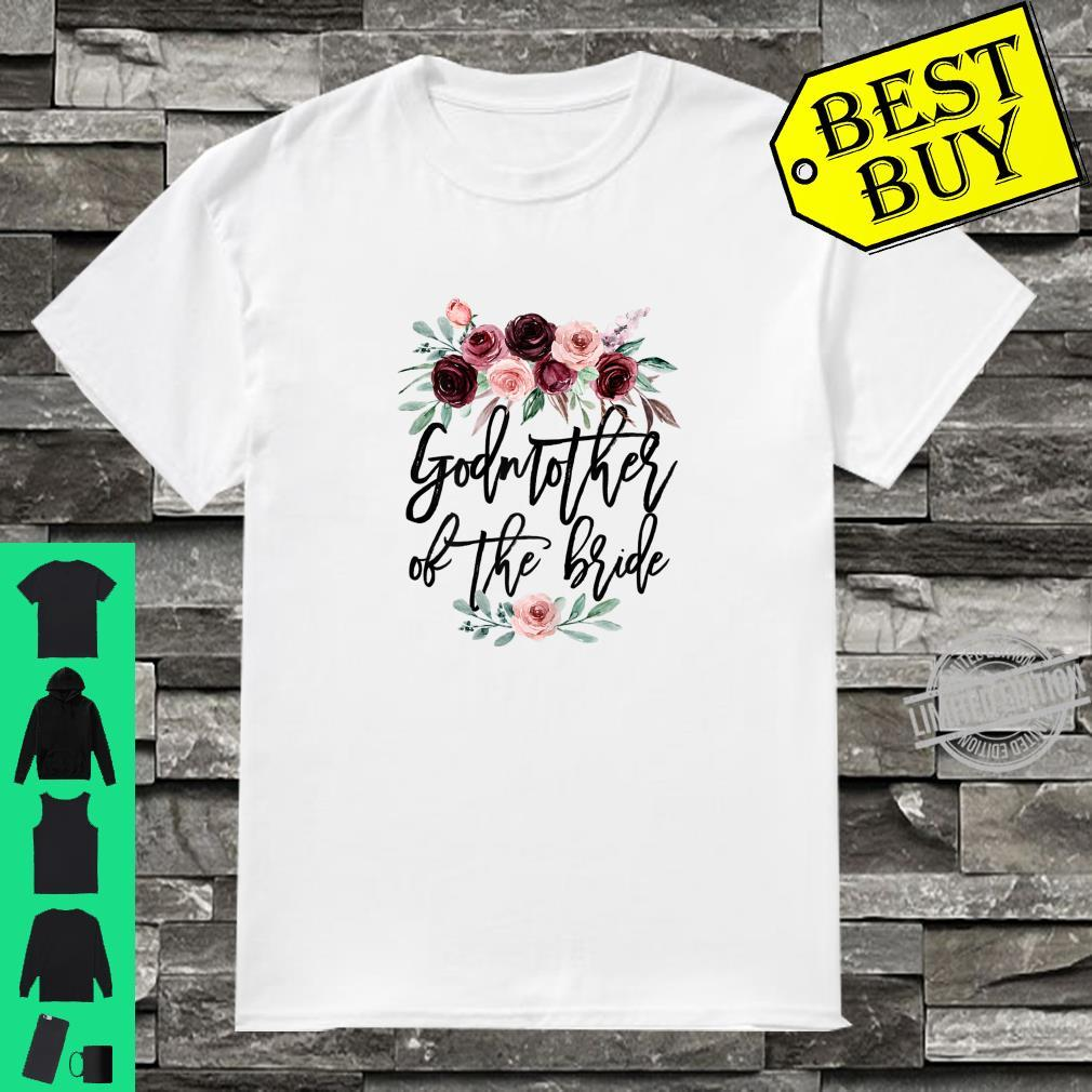 Womens Wedding Bridal Shower for Godmother of the Bride Shirt