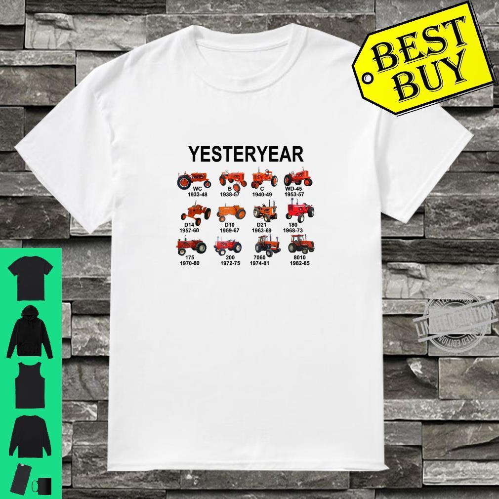 Yesteryear Farmer Agrimotor Dad Daddy Birthday Father's Day Shirt